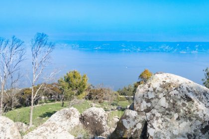 View facing east across the Lake Kinnereth(Galilee).